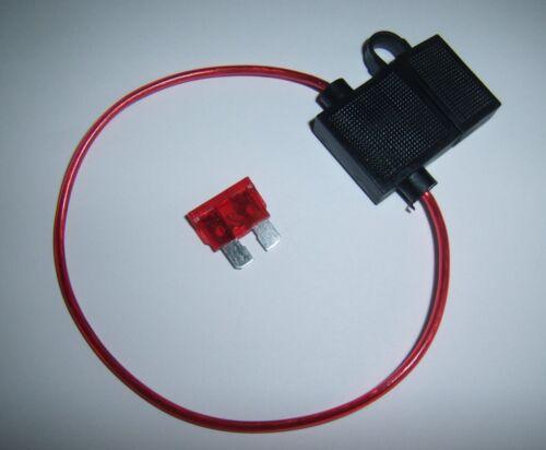Car Audio Alarm Electronics 18 Gauge Ga AWG ATC In-Line Fuse Holder w//Free Fuse