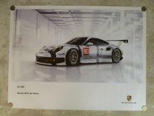 2014 Porsche 911 RSR Coupe Le Mans Showroom Advertising Sales Poster RARE!! L@@K