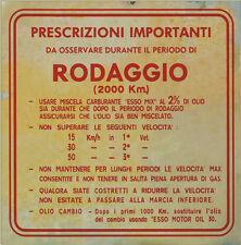 "Rodaggio ""Vintage"" Aufkleber Italienisch 3-Gang nur hier! 3-geared italian Vespa"
