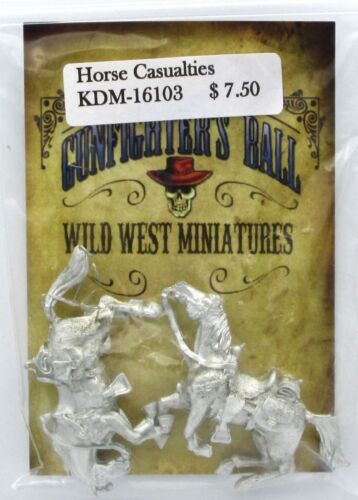 Knuckleduster KDM-16103 Horse Casualties (Gunfighter's Ball) Old West Dead Mount