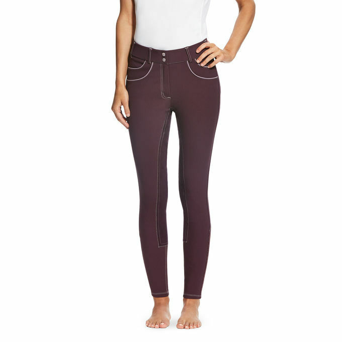 ARIAT WOMENS OLYMPIA ACCLAIM BREECHES REGULAR RISE FULL SEAT MALBEC SALE