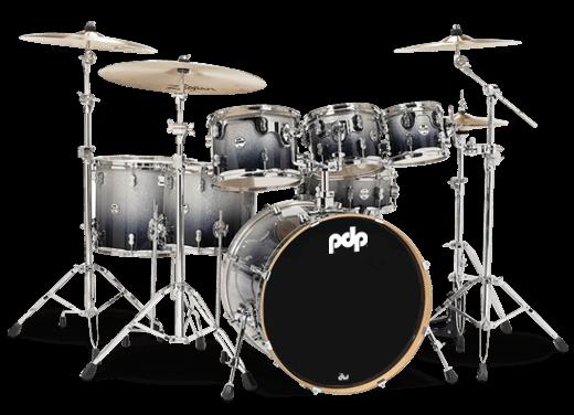 PDP by DW Drumset Concept Maple CM7 Silver to Black Sparkle Schlagzeug