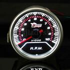 "2"" 52mm Pointer Tachometer Tacho 0-10 RPM LED Gauge Kit Car Smoke Lens Meter 12V"