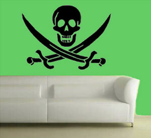 PIRATE BUCCANEER WALL DECOR DECAL STICKER