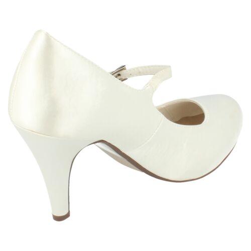 Mesdames F9699 Bridal Escarpins en Satin par Anne Michelle £ 22.99