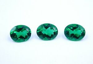 5-50Cts-3Pc-Neno-Emerald-Oval-Faceted-Gemstone-7X9-MM-Oval-Emerald-Loose-B493