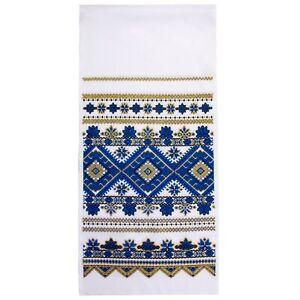 """Ukrainian Rushnyk Traditional Folk Towel Wedding Ritual Cloth Rushnik 14x59"""""""