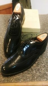 Florsheim-Mens-Shoes-Kenmoor-Imperial-Wing-Tip-Black-Smooth-Leather-w-shoe-tree