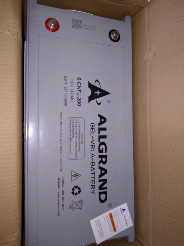 Brand new Allgrand solar batteries 200Ah 12v
