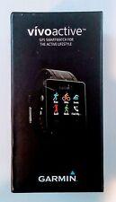 New Garmin Vivoactive GPS Smart Watch Fitness in Black ~ Free Shipping!
