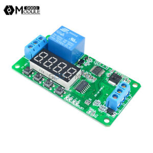 DC-12V-Multifunction-PLC-Self-lock-Delay-Relay-Cycle-Timer-Module-Switch-Control