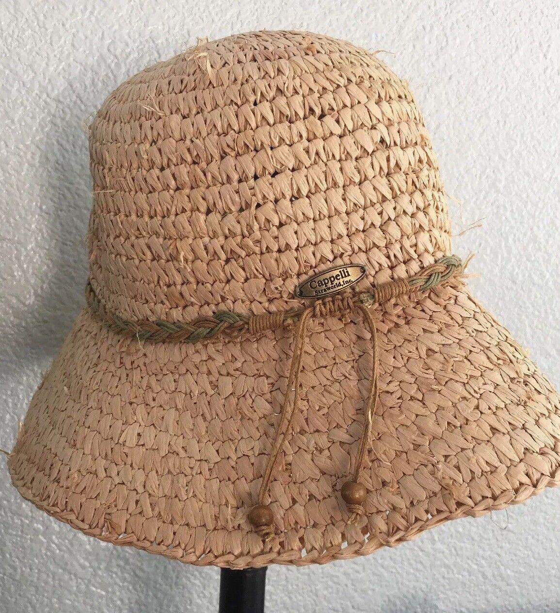 Cappelli Handmade Straw Hat Womans Ladies