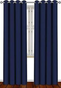 "2 Panel Thermal Blackout Room Darkening Curtains Set 52 x 84"" Utopia Bedding"
