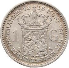 Niederlande, Wilhelmina, 1 Gulden 1916