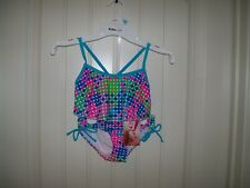 Kanu Surf Girls/' Suzie Polka Dot Flounce Bikini Swimsuit Green NWT Size 5