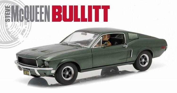 1968 Ford Mustang GT Vintage Bullet, échelle 1 18 avec Fig DIECAST MODEL