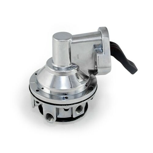 TSP JM1004C Big Block Chevy Fuel Pump 80GPH Mechanical Chrome Aluminum