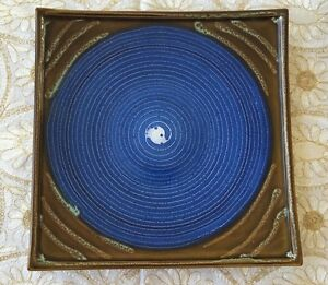 Ceramic-Square-Plate-by-Country-Originals-Blue-Large