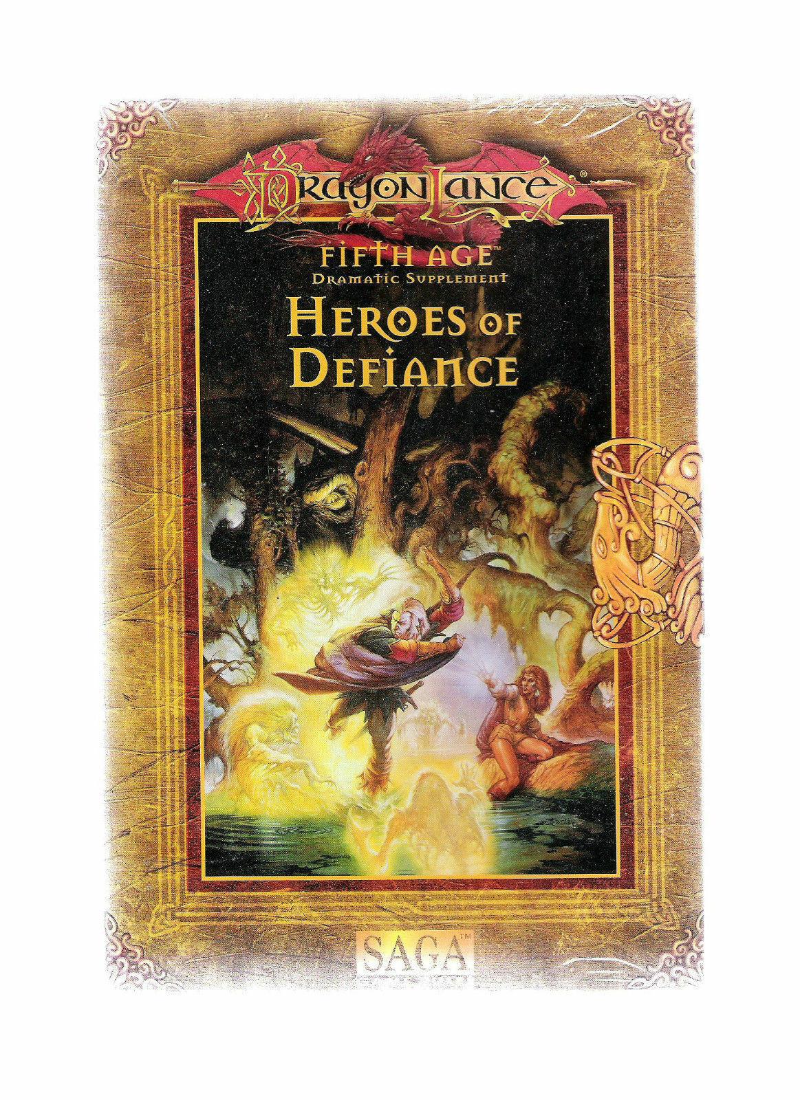 TSR AD&D 2E DRAGONLANCE 5TH AGE HEROES DEFIANCE 9517 ADV DUNGEON DRAGON