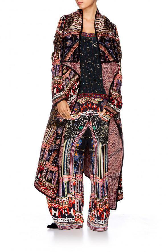 CAMILLA FRANKS Swarovski bailando  en mi propia Chaqueta de Abrigo Chaqueta Larga  presentando toda la última moda de la calle