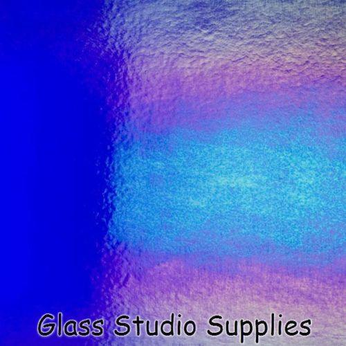 Delgada Bullseye Deep Royal Blue Irid fusión de vidrio 1114-51