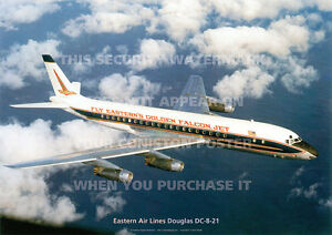 EASTERN-AIR-LINES-DOUGLAS-DC-8-DC8-A3-POSTER-PRINT-PICTURE-PHOTO-IMAGE-x
