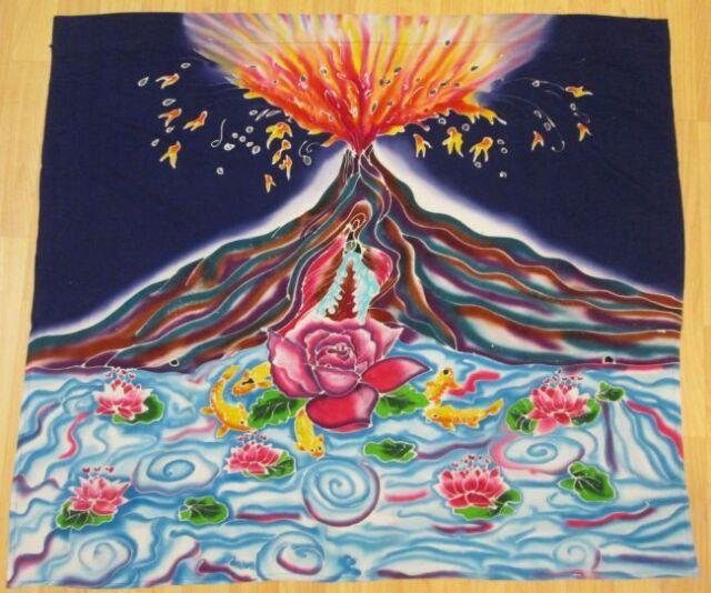 Feminist Banner Volcano Rose Yoni Vulva Goddess Wall Hanging #BA040