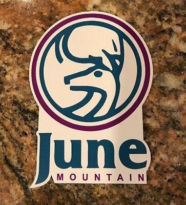 June Mountain Ski Sticker Ski Snowboard Mountain Sports Mammoth Skiing Snow