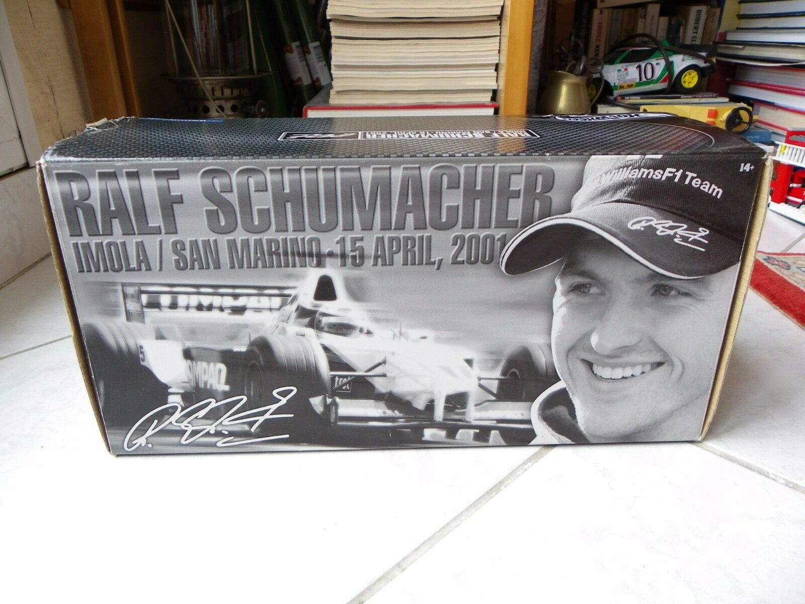 Williams Bmw FW23 Ralf Schumacher Imola 1st win  5 1 18 Hotwheels 2001 F1
