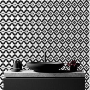Monchrome vinile piastrelle bastone su adesivi cucina for Piastrelle vinile