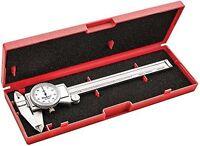 """Starrett 3202-6 Dial Caliper, Hardened Stainless Steel, 0-6"""" Range, 0.001"""" Gr..."""