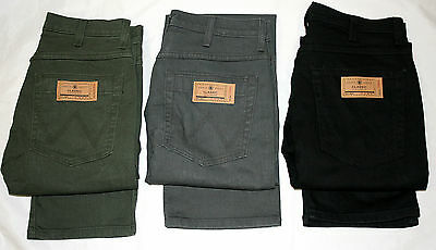 MEN'S DE-LABELED WRANGLER SOFT COLOURED JEAN ADDED STRETCH REG FIT 3 COLOURS