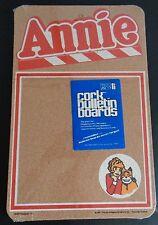 ANNIE Movie 1981 Cork Bulletin Board 17 x 11 Vintage PROMO New FREE SHIP Sealed