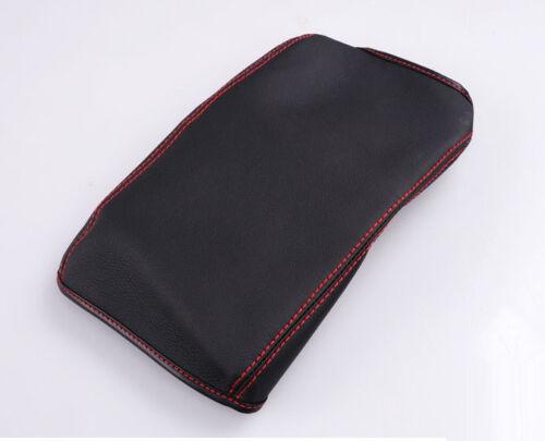 1PCS Top Leather Center Armrest Box Surface Case Cover Black For Honda CRV 12-17