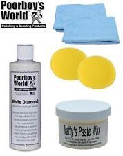 Poorboys Light Kit Nattys Paste Wax & White Diamond Glaze + 2 Free Cloths Pads