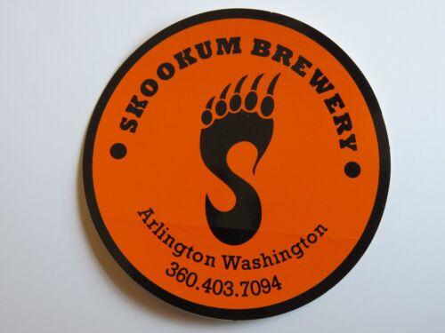 BEER Decal STICKER ~ SKOOKUM Brewing Company ~ Arlington WASHINGTON Breweriana