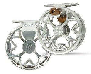 Ross-Colorado-LT-Fly-Reel-Size-4-5-Color-Platinum-NEW-Free-Fly-Line