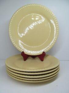 "Gail Pittman Hospitality 11 1/4"" Butter Yellow Dinner Plates Set Of 6 Plates EUC"
