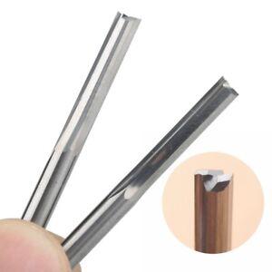 """10pcs 1//8/"""" Shank 1mm Diameter x 4mm 2 Flute Carbide Straight Slot CNC Router Bit"""