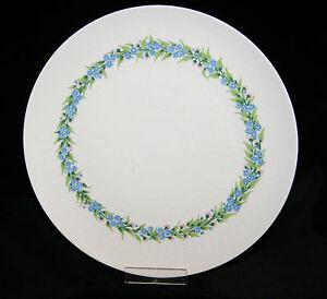 Rosenthal-Porzellan-Romanze-Vergissmeinnicht-Speiseteller-Design-Bjoern-Wiinblad