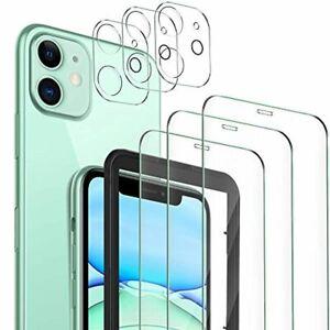 MSOVA pour iPhone 11 Verre Trempé+ Caméra Arrière Protecteur, [3 Pièces] Vit