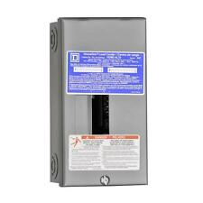 Square-D Homeline 70-Amp 2-Space 4-Circuit Indoor Main-Breaker Panel Load-Center
