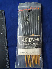 9 RETRO/VINTAGE MYSTICFLOATS 3BB STICK FLOATS IN ORIGINAL PACKET