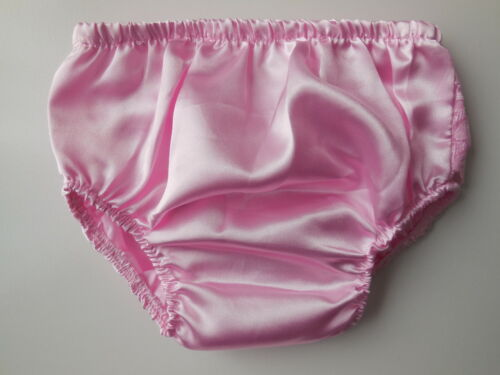 Soft Touch Baby Girl Pink Satin Nappy Cover w Lace Ruffles Size 0 Fits 6-12m NEW