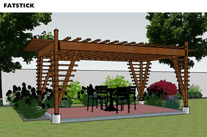 Pergola Plans And Parts List 10 Ft X 16 Ft Adjustable