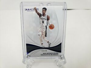 2018-19-Panini-Immaculate-Dejounte-Murray-Base-17-25