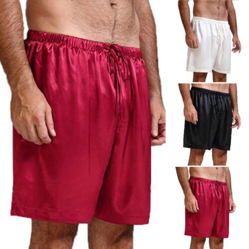 Halbe Hose Kurze Hosen Nachtwäsche Sommer Strand Männer Schlafshorts Seide
