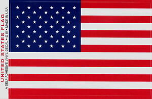 "American Flag Sticker 3.5""x5.0"" US Flag Decal Heavy Duty Vinyl - Made in USA"