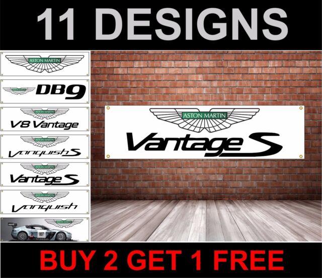 Aston Martin PVC Bannière Panneau Atelier Garage DB7, DB9, Vantage, V8, Dbs ,