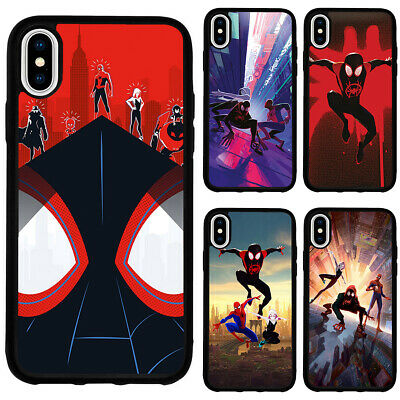 Spider-Man Miles Morales Spider-Verse Case Cover for iPhone 12 Pro Max 11 XS XR | eBay